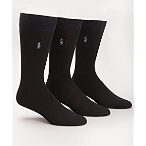 Polo Ralph Lauren Super Soft Crew Dress Socks 3-Pack, One Size, Navy