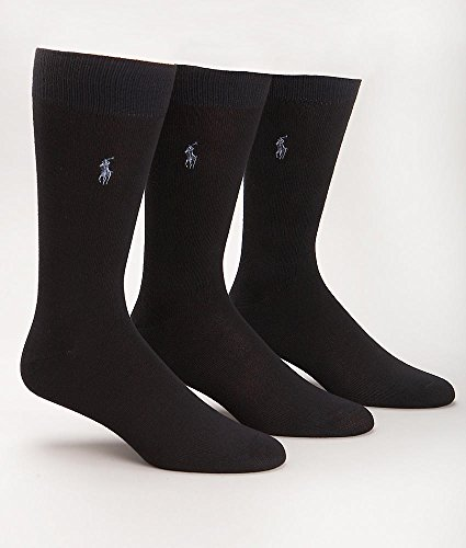 Polo Ralph Lauren Super Soft Crew Dress Socks 3-Pack, One Size, - Lauren Ralph Navy Polo