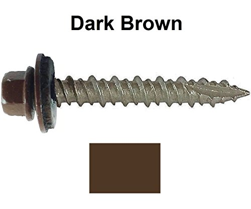 metal-roofing-screws-250-screws-x-1-dark-brown-hex-washer-head-sheet-metal-roof-screw-self-starting-