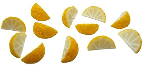 Dollhouse Miniature Set of 10 Lemon Wedges by Bright deLights ()