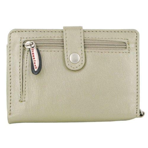 Travelon Leather Wallet/Wristlet in One (Beige) from Travelon