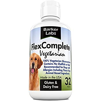 Liquid Glucosamine 100% EXTRA STRENGTH Vegetarian Dog Joint Supplement - 1,600mg Glucosamine + 1,500mg MSM - Formulated in the USA - GUARANTEED See Results or its FREE