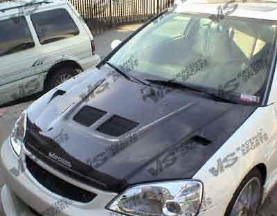 VIS 97-01 Honda Prelude Carbon Fiber Hood EVO BB5/BB6