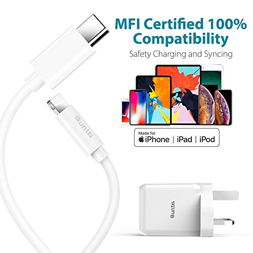 iPhone XS//Max//XR//X//8//7 Galaxy S9//S8 60W Power Delivery 3.0 USB C Charger iPad Pro 2018 18W Quick Charge 3.0 USB A Port for MacBook Air 2018 Quntis USB C PD Charger With 1.5m Type C to C Cable
