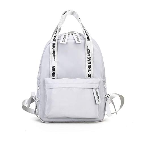 (Large Capacity Backpack Women School Bags for Teenagers Female Nylon Travel Bags Girls Bowknot Backpack Mochilas,Gray)