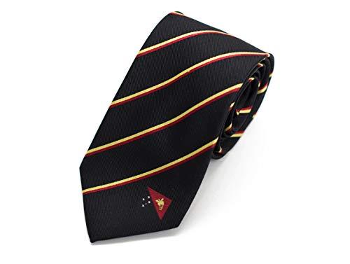 "Papua New Guinea Tie (3.25"" Width) 100% Woven Silk"