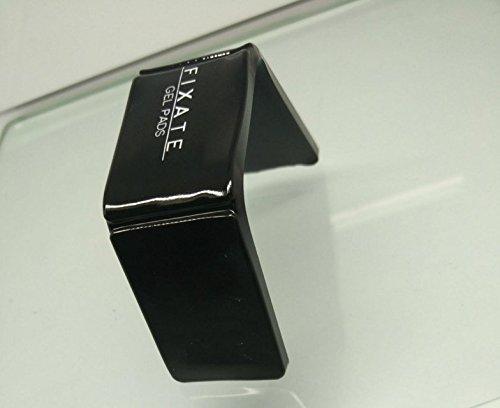 Soporte para el telé fono mó vil,de Flxate Flourish Lama,con goma antideslizante,color negro,se puede pegar a cristales,espejos,armarios,salpicadero