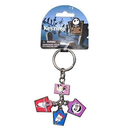 Monogram International NBX Lock Shock and Barrel Dangle Pewter Key Chain