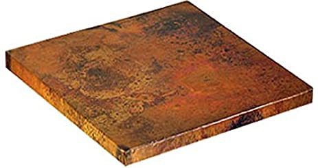 Attractive Square Copper Table Top Light Patina (24u0026quot;)