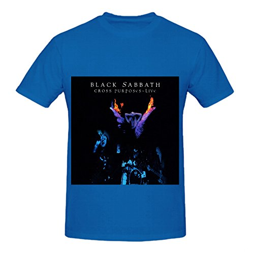black-sabbath-cross-purposes-live-rb-album-cover-men-crew-neck-short-sleeve-shirts-blue