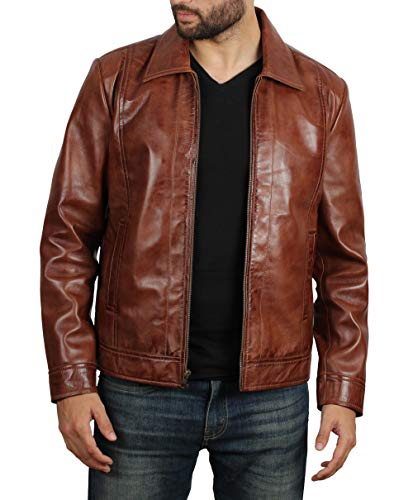fjackets John Brown Leather Jacket Men - Genuine Lambskin Mens Leather Jacket | John Wick L