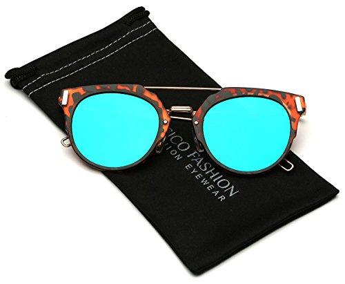 Chameleon Flat Lens Horn Rimmed Cat Eye - Chameleon Sunglasses