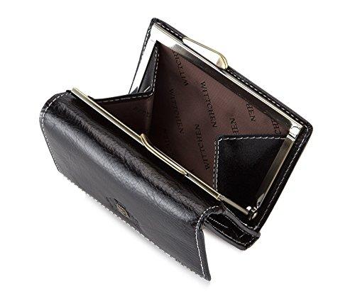 WITTCHEN portafoglio, Nero, Dimensione: 8x11 cm - Materiale: Pelle di grano - 22-1-053-1