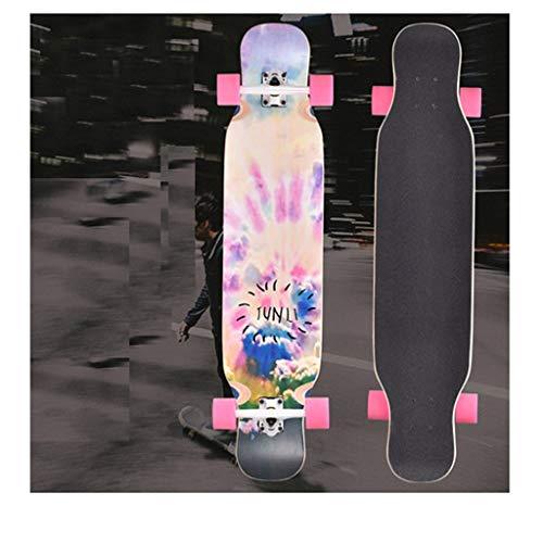 YJWOZ Double-up Skateboard Long Board Beginner Adult Professional Four-Wheeled Skateboard 23.5×107cm Skateboard (Color : B) (Rasa Libre Skateboard Deck)