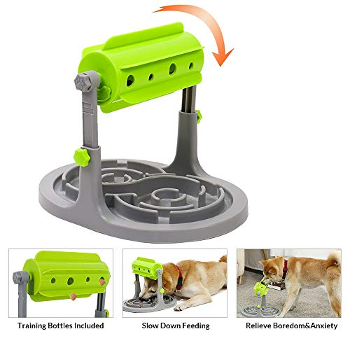 OSPet Interactive Dog & Cat Puzzle Toy - Treat Boredom Dispensing Dogs Slow Feeder - Refillable Food Tough Dog Toys for Training, Anxiety Relief Smart Dog Game for Small/Medium Dogs