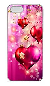 Christmas Love Hearts Custom iPhone 5s/5 Case Cover Polycarbonate Transparent Black Friday gift