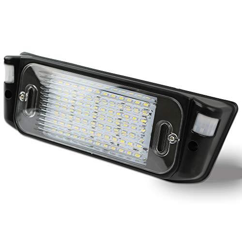 Leisure LED RV Motion Sensor Exterior Porch Utility Light - Black 12v Lighting Fixture Kit with LED Panel for Bright Lighting at Night Trailer 700 Lumen (Black) ()