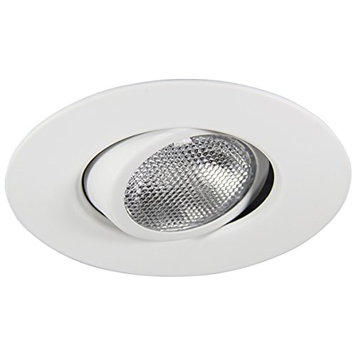Eco Lighting NY HV6010WH 6-Inch Line Voltage Trim Recessed Light fit Halo/Juno, Adjustable Gimbal Ring Trim, All White