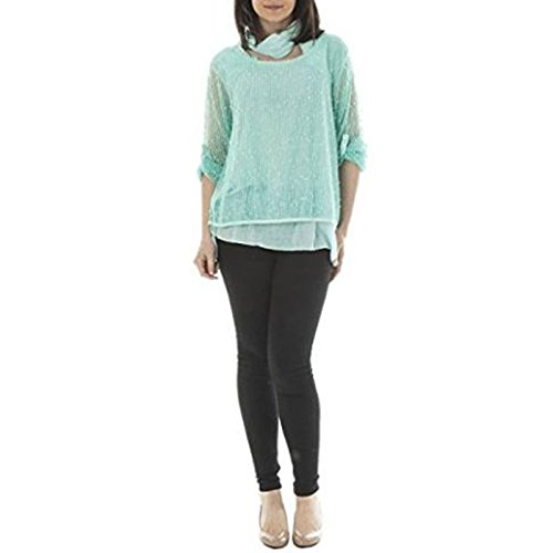 Candy Clothing - Camiseta de manga larga - para mujer agua