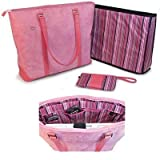 "MobileEdge Komen Tote Pink Faux-Suede Fits up to 17.3"" laptops"