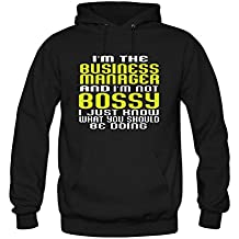 ZWEN Women's I'm The Business Manager and I'm Not Bossy Hoodie