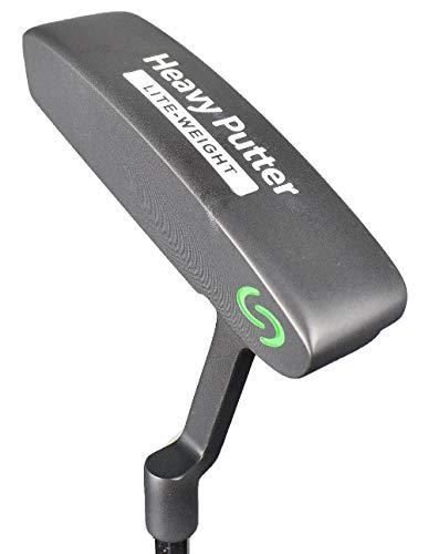Heavy Putter Q2-L Black Plumber's Neck Blade Putter ()