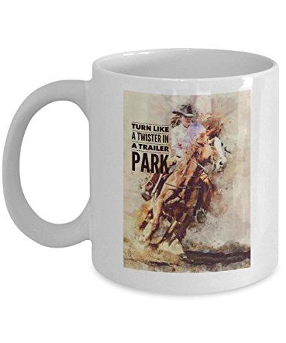 (Barrel Race Mug - Cowgirl barrel racer - Gift for Barrel Racer - Horse Lover Mug )