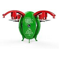 Leewa 2.4G Foldable Christmas Egg Drone 0.3MP Camera WIFI FPV RC Quadcopter HD Selfie UAV