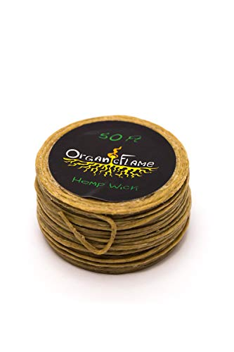 50Ft of Organic Hemp Wick by Organic Flame