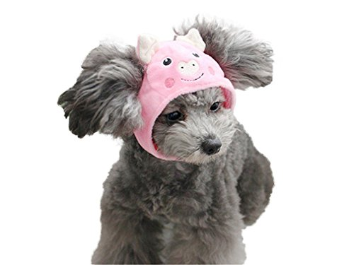 Remeehi Pet Hat Cute Party Costume Cap Accessory Headwear for Cats Small Dogs (Pink Pig S) -