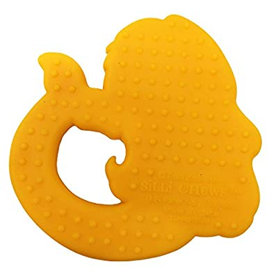 Silli Chews Cute Mermaid Toys for Baby Girls Teether Soft Silicone Rubber Textured Teething Toy Freeze or Cool Oral Infant Toddler Pain Relief for Gums or Drool : Baby