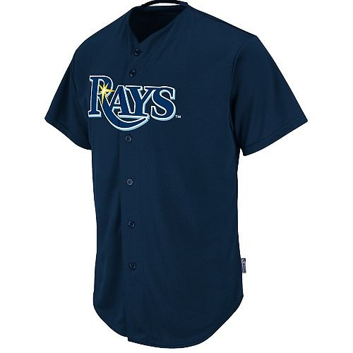 (Adult XL Tampa Bay Rays BLANK BACK Major League Baseball Cool-Base Replica MLB Jersey)