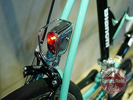 Vintage Style Spanninga Nr 9 Chrome LED Bicycle Rear Mudguard Fender Light Retro