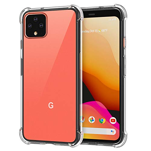 PLESON Google Pixel 4 XL Shockproof Case, Rugged Anti-Drop Anti-Scratch, Slim Fit Crystal Clear Protective Phone Case, [Support Wireless Charging] TPU Bumper Case Cover 2019 [Super Good Service]