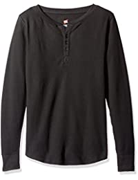 Hanes womens plus-size Hanes Women's Ultimate Thermal Henley