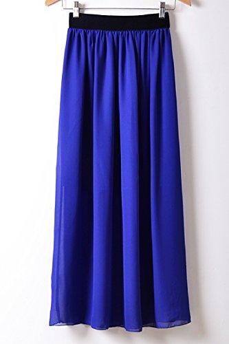 La Mujer Elegante Una Linea De Falda De Gasa Disstressed Fiesta De Oficina Blue