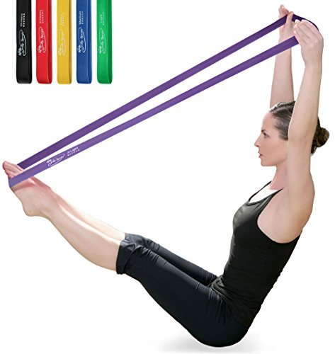 JollySports-Resistance-Bands-Set-6-Loop-Best-for-Training-Men-or-Women-Legs-Knee-Arms-and-Low-to-Heavy-Duty-Workout-and-Exercise