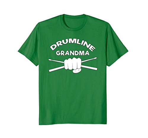 Mens Drumline Grandma T Shirt for Marching Band Gift Clothing Medium Kelly Green - Marching Band Green T-shirt