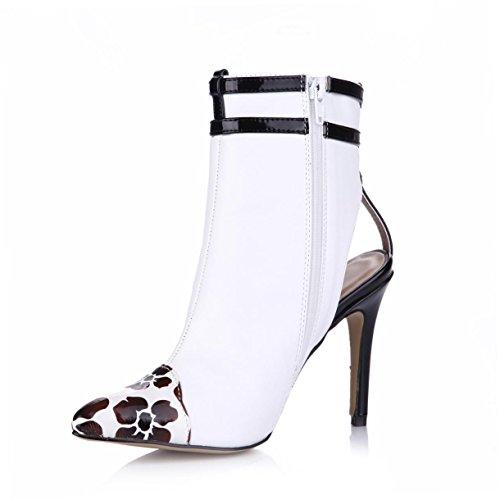 Best Rubber Shoes Sole White Pointed Premium Heels Sandals Women's toe Summer 7CM 9 High 4U Pumps PU Zipper 7qa47rw