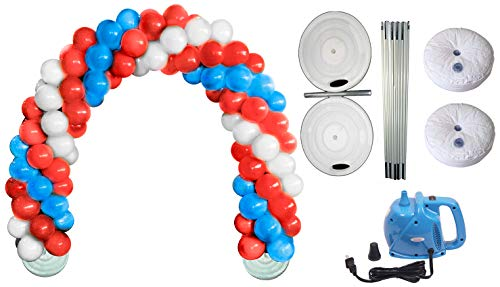 Balloon Arch Deluxe DIY Professional Kit with Patriotic Red, White and Blue Balloons (1/Pkg) Pkg/1