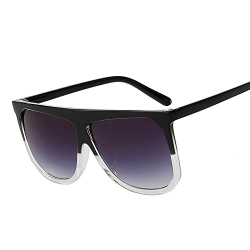 1be7fa7eb7 TIANLIANG04 Gafas de sol con montura grande, estilo retro, vintage,  redondas, remaches