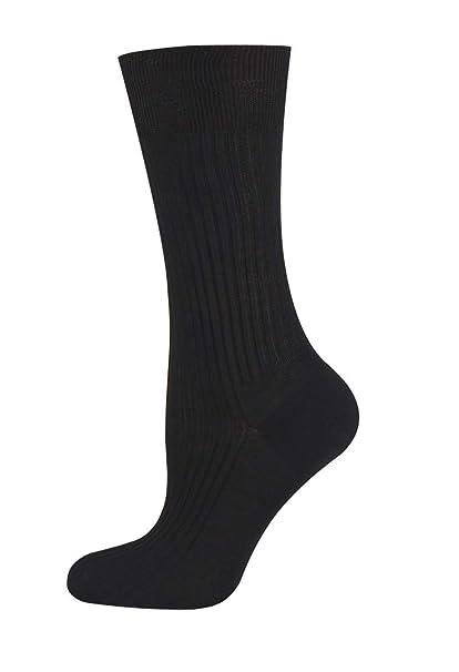 5d9ec8eb3 Mysocks 100% Mercerised Egyptian Cotton Calf Socks Plain at Amazon ...