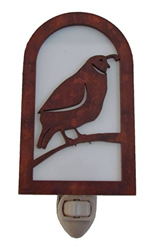 Rustic Quail Nightlight Made in USA