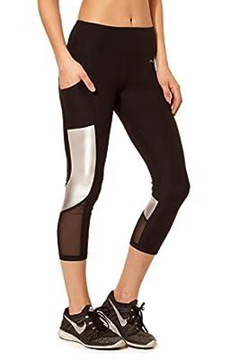 Women's Active Workout Capri Pants with Pocket X by Gottex 124C
