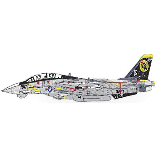 (F-14B Tomcat Side View VF-31 Fighter Squadron Patch)