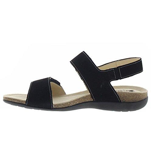 Womens Nubuck Agave Nero Sandals Mephisto dXqE4Cwq