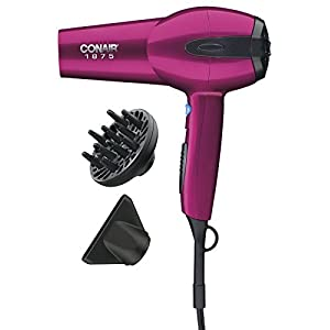 Conair 1875 Watt Ionic Ceramic Hair Dryer; Pink - Amazon Exclusive