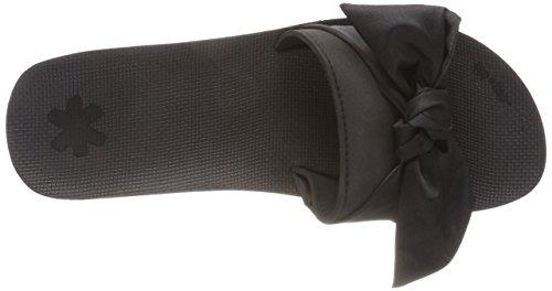 flip*flop Poolwedge Bow, Sandalias con Plataforma Para Mujer Schwarz (Black)