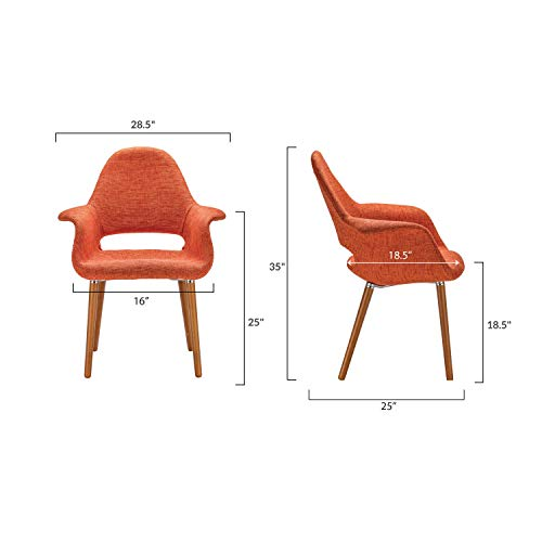 Poly and Bark Barclay Dining Chair in Orange (Set of 2) by Poly and Bark (Image #7)