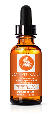 OZNaturals Vitamin C Serum + AHA For Skin - Anti Aging Anti...